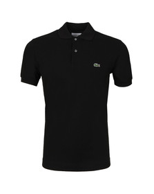 Lacoste Mens Black L1212 Plain Polo Shirt