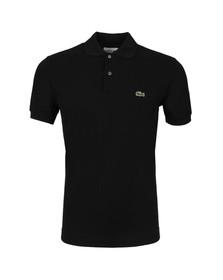 Lacoste Mens Black L1212 Plain Polo Shirt