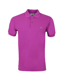 Lacoste Mens Pink L1212 Irresistible Plain Polo Shirt