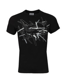 Lacoste Sport Mens Black TH9326 Pattern T-Shirt