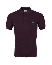 Lacoste Mens Purple Lacoste L1264 Plain Polo