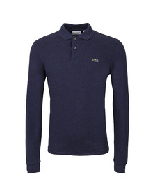 Lacoste Mens Blue L1313 Bleu Indigo Fonce Long Sleeve Polo
