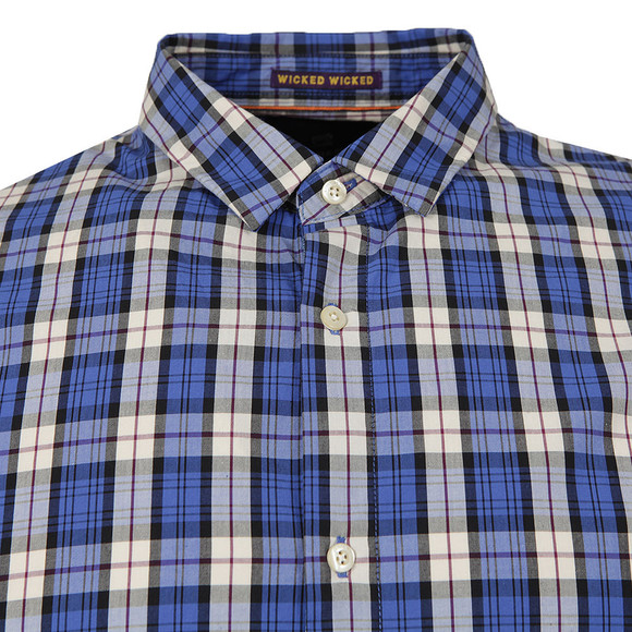 Scotch & Soda Mens Blue Shirt In Crispy Poplin main image