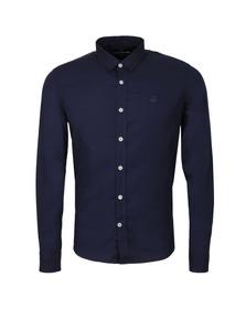 Duck & Cover Mens Blue L/S Birch Plain Shirt