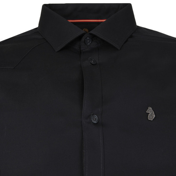 Luke Mens Black Butchers Pencil Shirt main image
