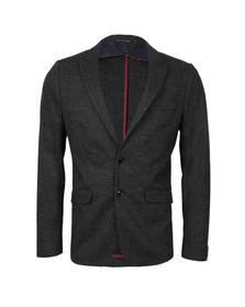 Scotch & Soda Mens Grey Knitted Blazer In Wool