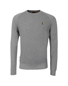 Luke Mens Grey Fresh Guy Crew Sweat