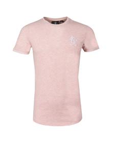 Gym king Mens Pink Long Line Tee