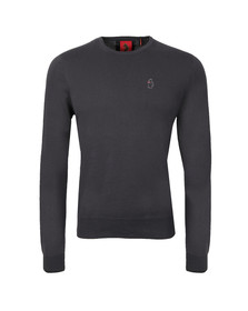 Luke Mens Grey Gerard Crew Neck Jumper