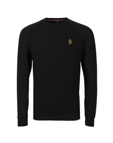 Luke Mens Black Fresh Guy Crew Sweat