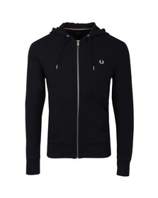 Fred Perry Mens Blue Loopback Hooded Sweat