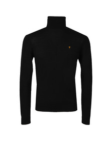 Farah Mens Black Gosforth Merino Roll Neck