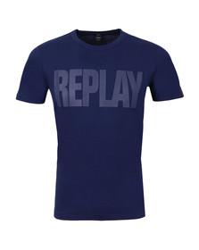 Replay Mens Blue M3037 Logo Tee