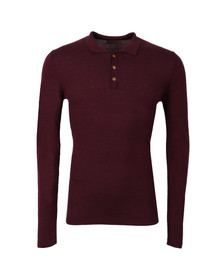 Pearly King Mens Red Lure Knit Polo Shirt