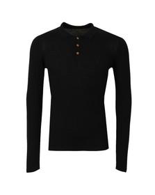 Pearly King Mens Black Lure Knit Polo Shirt