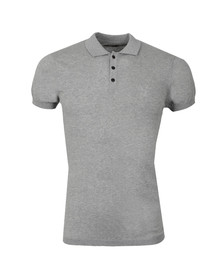 Pearly King Mens Grey Luxe Knit Polo Shirt