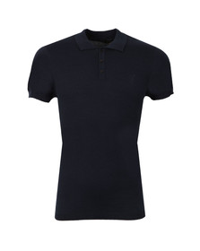 Pearly King Mens Blue Luxe Knit Polo Shirt