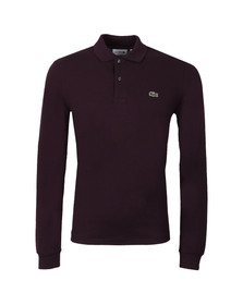 Lacoste Mens Purple L1313 Bougainvillier Mouline Long Sleeve Polo