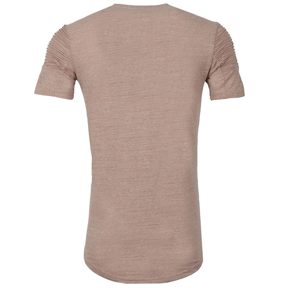 Project X Paris Mens Beige Pleated Sleeve T Shirt main image