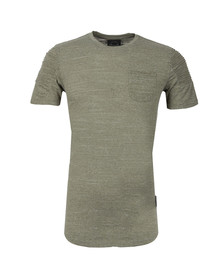 Project X Paris Mens Green Pleated Sleeve T Shirt