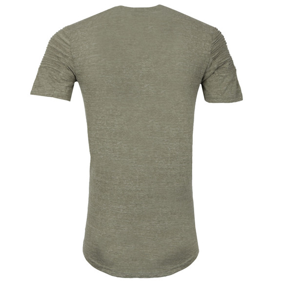 Project X Paris Mens Green Pleated Sleeve T Shirt main image