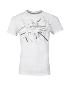 Lacoste Sport Mens White TH9326 Pattern T-Shirt