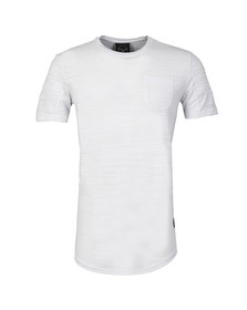 Project X Paris Mens White Pleated Sleeve T Shirt