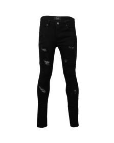 Project X Paris Mens Black Ripped Biker Jean