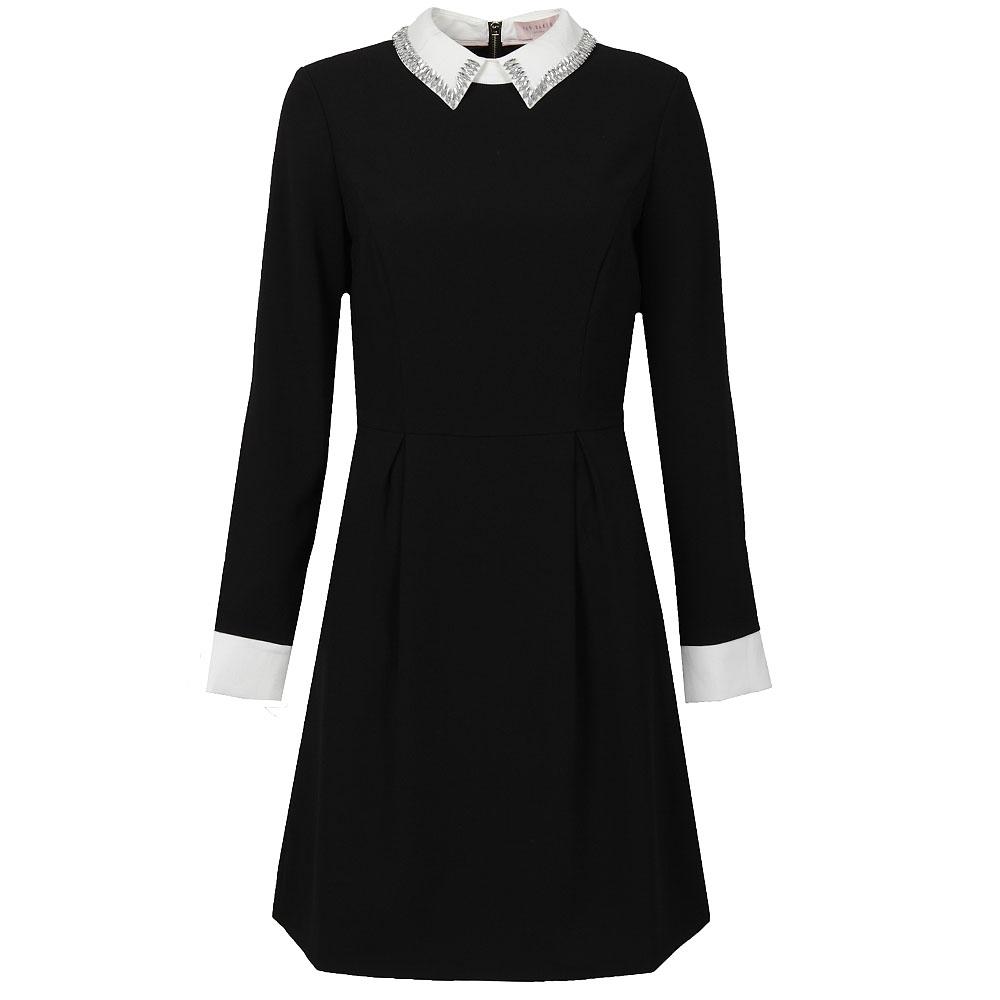 2d9d0dc64 Ted Baker Womens Black Timu Collar Detail Dress