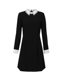 Ted Baker Womens Black Timu Collar Detail Dress