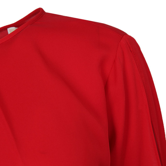 Michael Kors Womens Red Cold Shoulder Top main image