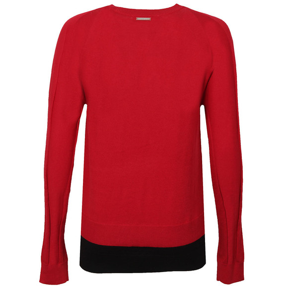 Michael Kors Womens Red Raglan Double Hem Jumper main image