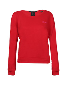 Maison Scotch Womens Red Super Soft Easy Fit Sweat