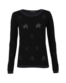 Maison Scotch Womens Black Pullover With Rib Details