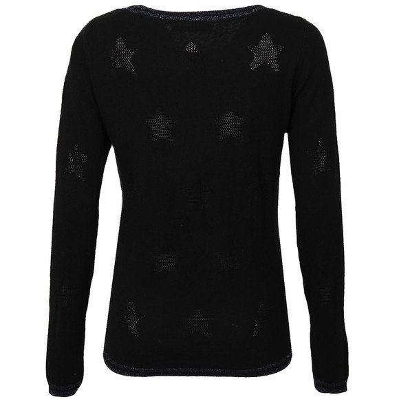 Maison Scotch Womens Black Pullover With Rib Details main image