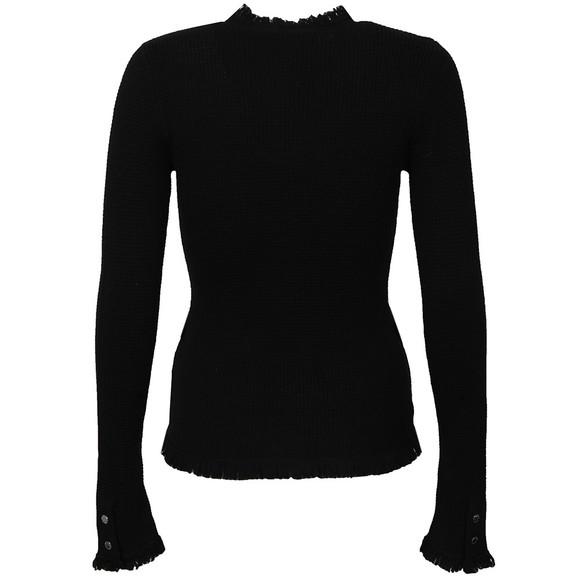 Michael Kors Womens Black Fine Fringe Cardigan  main image