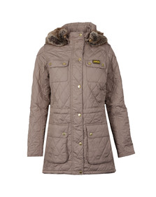Barbour International Womens Beige Enduro Quilt Jacket