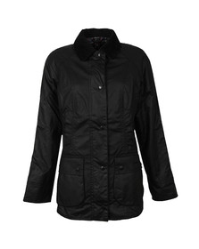 Barbour Lifestyle Womens Black Beadnell Wax Jacket