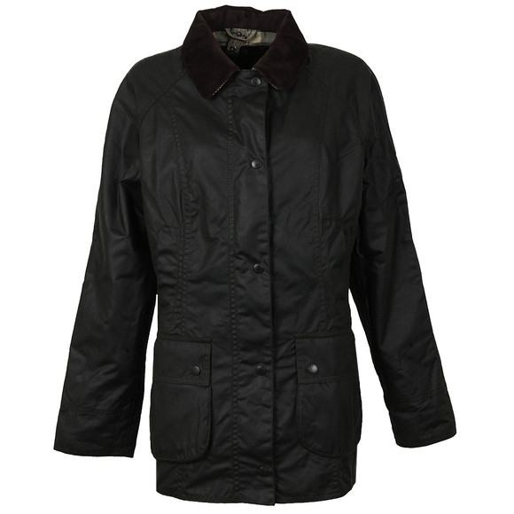 Barbour Lifestyle Womens Green Beadnell Wax Jacket