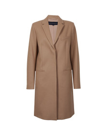 French Connection Womens Brown Platform Coat
