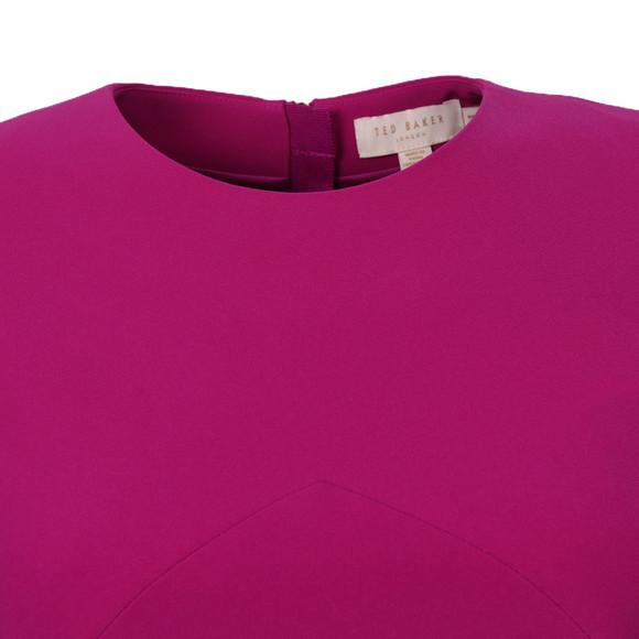 Ted Baker Womens Purple Emorly Side Bow Long Sleeve Dress main image