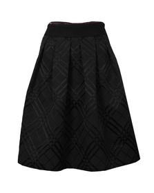 Ted Baker Womens Black Mansii Check Bow Detail Full Skirt