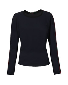 Maison Scotch Womens Blue Silky Feel Top