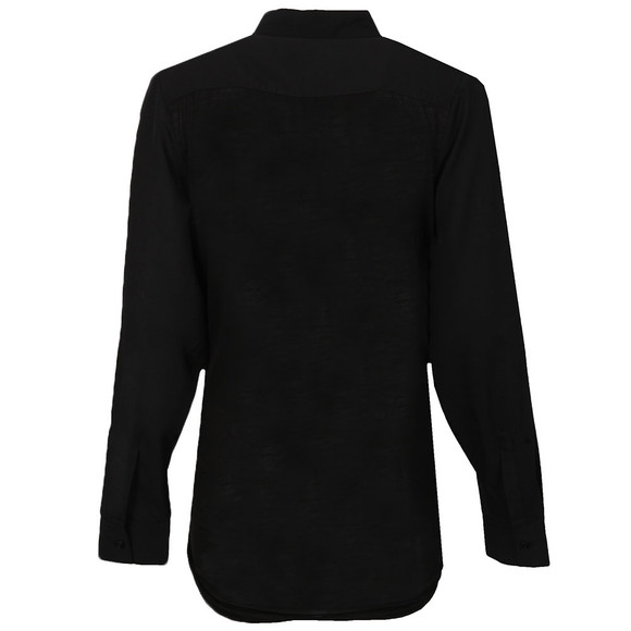 French Connection Womens Black Polly Plains Long Sleeve Pocket Shirt main image