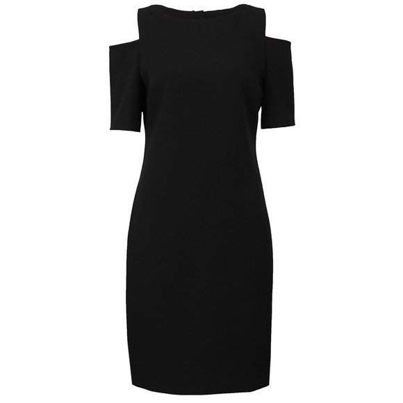 Michael Kors Womens Black Structured Cut Out Dress