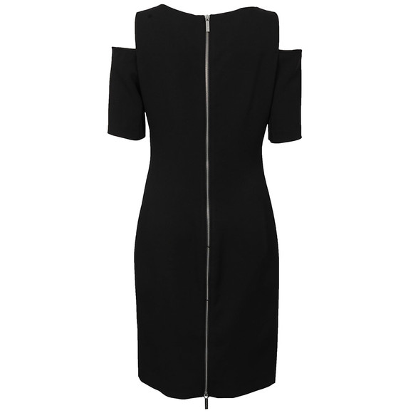 Michael Kors Womens Black Structured Cut Out Dress main image