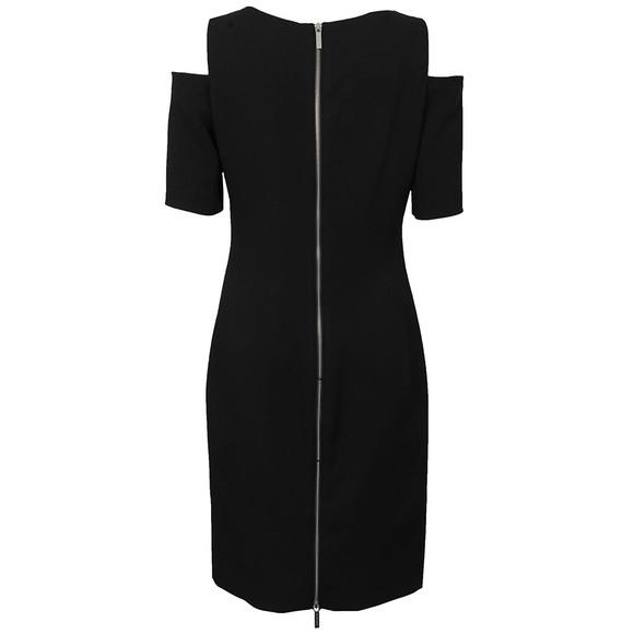 Michael Kors Womens Black Structured Cut Out Dress main image