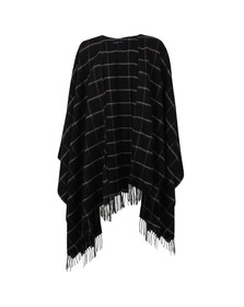 French Connection Womens Black Windowpane Cape