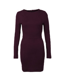 French Connection Womens Purple Lula Stretch Long Sleeve Dress