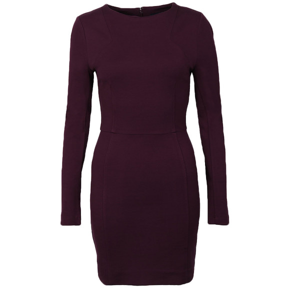 French Connection Womens Purple Lula Stretch Long Sleeve Dress main image